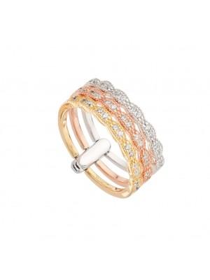 Itemporality anillo Tricolor Desigual