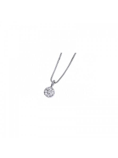 Davite & Delucchi collar Classic Line en oro blanco  y diamantes