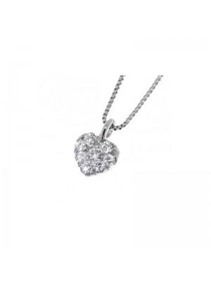 Davite & Delucchi collar Classic Line, corazón en oro blanco  y diamantes