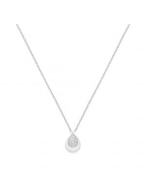 Itemporality collar con colgante gota en oro blanco con diamantes