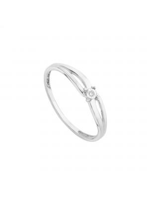 Itemporality anillo en oro blanco con diamante pastilla diamantada