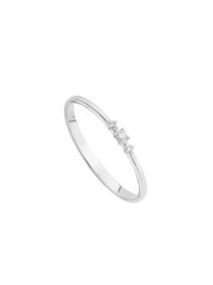 Itemporality anillo en oro blanco con diamantes