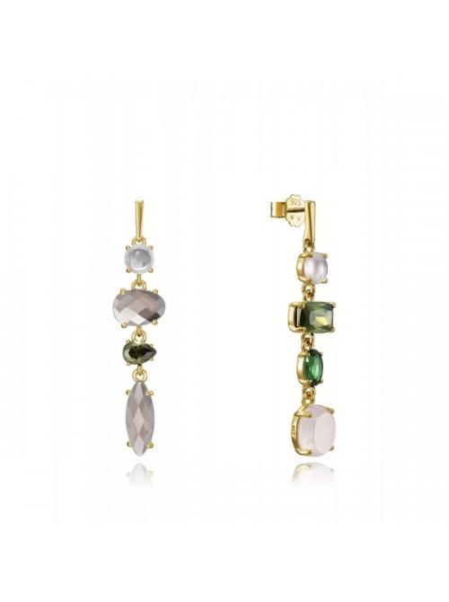 Viceroy pendientes Elegant en plata y cristales asimétricos