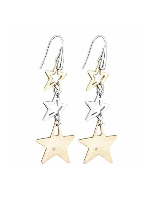Comete Gioielli pendientes largos Estrellas