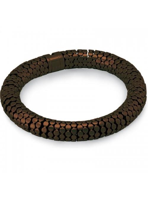 Swatch pulsera en acero color marrón