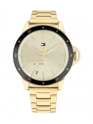 Tommy Hilfiger Ladies Diver acero PVD dorado 38 mm
