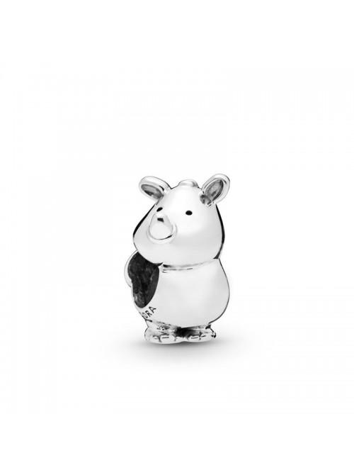 Pandora charm en plata de Ley Rino el Rinoceronte