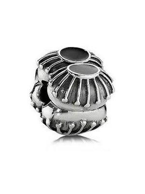 Pandora clip en plata de ley y esmalte negro