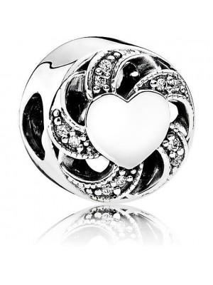 Pandora charm en plata de Ley Corazón en Espiral