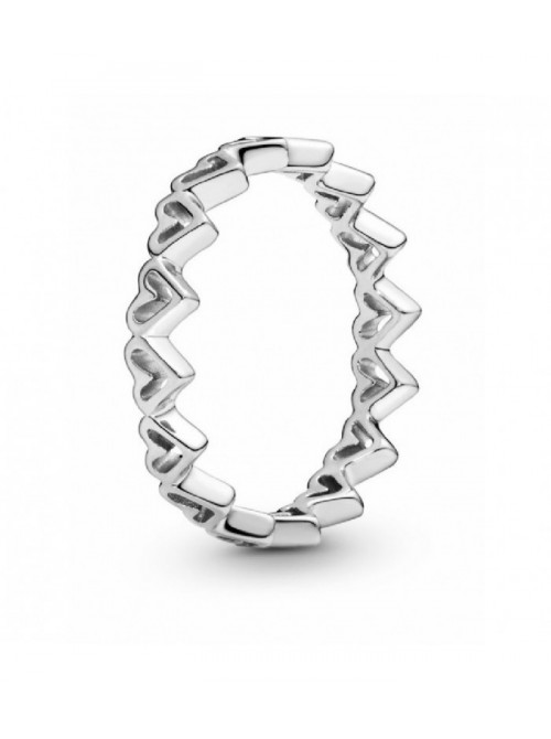 Pandora anillo en plata de ley Corazones