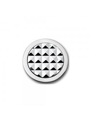 Mi Moneda, Stud en acero con disco central en plata