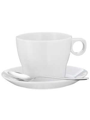 WMF Taza de café con leche Barista con plato y cuchara