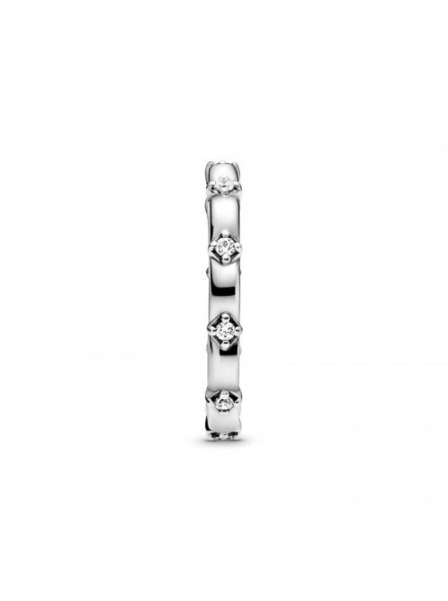 Pandora anillo en plata de ley Banda de Pétalos