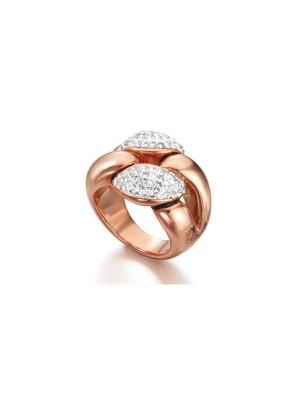 LeCarré anillo plata rosada Trenza