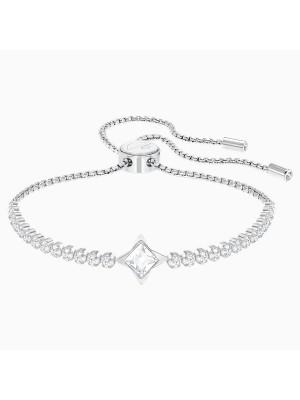 Swarovski brazalete Subtle Star, blanco, baño de rodio
