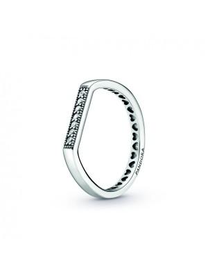 Pandora anillo Barra de Circonitas en plata de Ley
