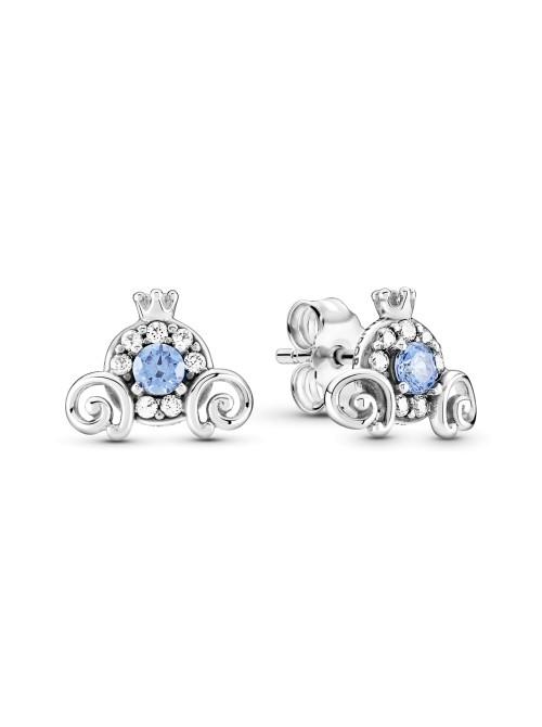 Pandora pendientes de botón en plata de Ley Carroza Encantada