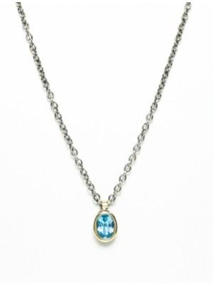 Styliano collar de plata y oro con Amatista